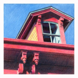 Just Call Me Red - colored pencil 5×5 inches - NFS